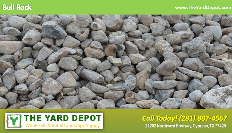 Sand gravel the yard depot in cypress wholesale for Landscaping rocks home depot
