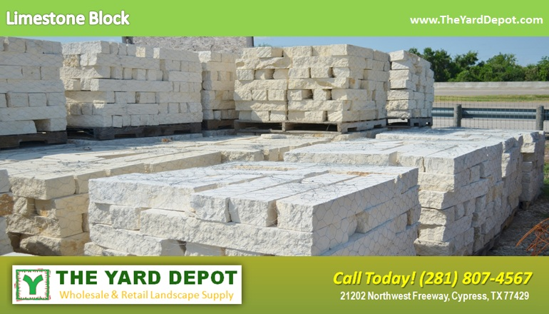 Limestone Block TheYardDepot.com Houston Landscape Supplier | www.TheYardDepot.com