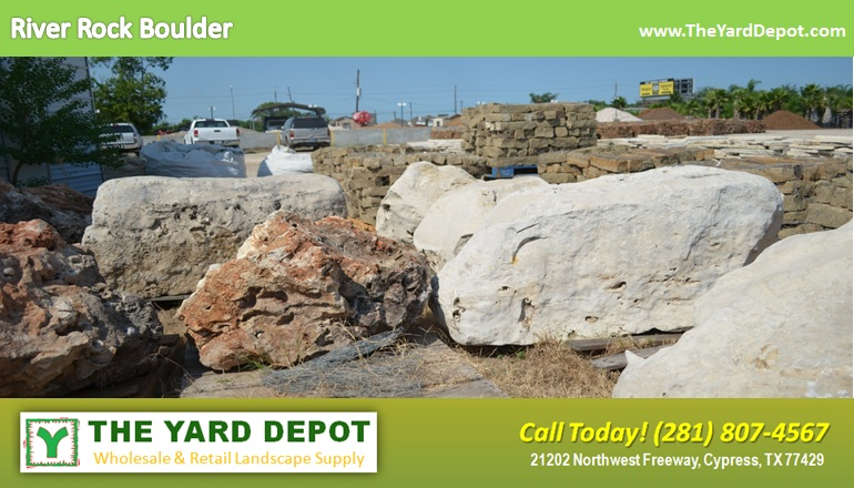 River Rock Boulder 2 TheYardDepot.com Houston Landscape Supplier | Landscape Supplier Houston
