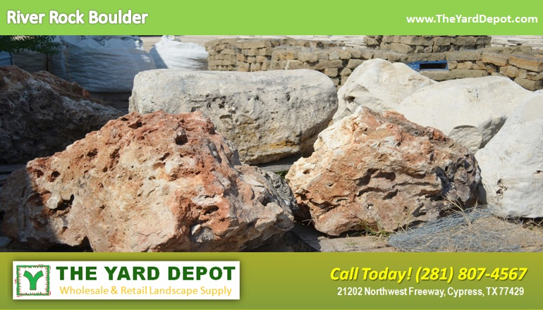 River Rock Boulder 3 TheYardDepot.com Houston Landscape Supplier | Landscape Supplier Houston